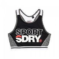 [해외]슈퍼드라이 Sport Colour Block Bra Black / Dark Marl / Mid Marl