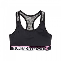 [해외]슈퍼드라이 Sport Essentials Bra Black / Speckle Charcoal