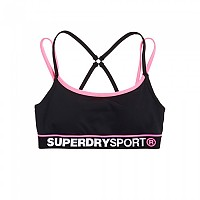 [해외]슈퍼드라이 Sport Dash Bra Black / Pop Pink