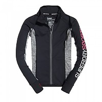 [해외]슈퍼드라이 Sport Essentials Track Top Black / Speckle Charcoal