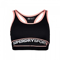[해외]슈퍼드라이 Sports Essentials Bra Black / Coral