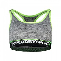 [해외]슈퍼드라이 Sports Essentials Bra Speckle Charcoal / Lemonade