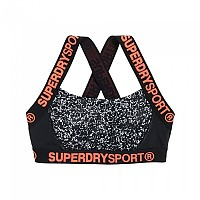 [해외]슈퍼드라이 Sport Colourblock Bra White Noise / Black