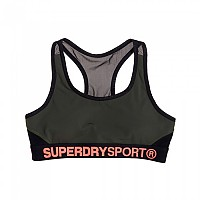 [해외]슈퍼드라이 Sport Layer Bra Khaki / Black
