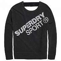 [해외]슈퍼드라이 Active Graphic Crew Neck Black Marl