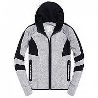 [해외]슈퍼드라이 Core Gym Tech Panel Ziphood City Grey Marl