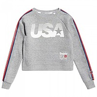 [해외]슈퍼드라이 Gym Tech USA Crop Crew Grey Grit