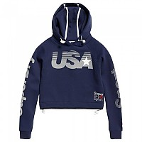 [해외]슈퍼드라이 Gym Tech USA Crop Hood Dark Navy
