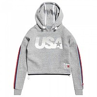 [해외]슈퍼드라이 Gym Tech USA Crop Hood Grey Grit