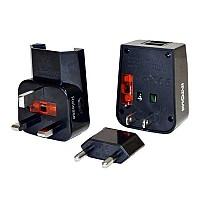 [해외]INTOVA Universal Adapter USB Charger Black