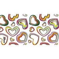 [해외]STT SPORT Crazy Towel Colour Hearts Terry Loop Multicolour