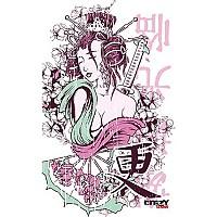 [해외]STT SPORT Crazy Towel Geisha Tattoo Compact Pink / White