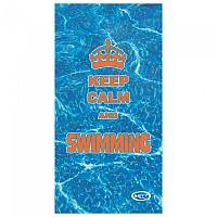 [해외]STT SPORT CrazyTowel Keep Calm And Swimm Compact Blue