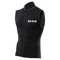 [해외]SIXS Short Zipped Biking Tank Top All Black