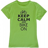 [해외]KRUSKIS Keep Calm and Bike On Light Green