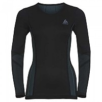 [해외]오들로 Performance Windshield Cycling T-Shirt L/S Crew Neck Black / Blue Radiance