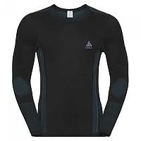 [해외]오들로 Performance Windshield Cycling T-Shirt L/S Crew Neck Black / Lake Blue
