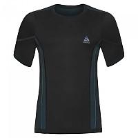 [해외]오들로 Performance Windshield Cycling T-Shirt S/S Crew Neck Black / Lake Blue