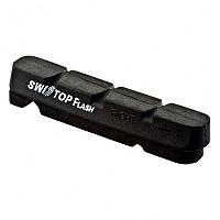 [해외]SWISSSTOP Kit 4 Rim Pad Flash Black / Aluminum