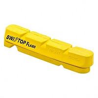 [해외]SWISSSTOP kit 4 Rim Pad Flash Yellow / Aluminum