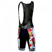 [해외]TAYMORY B225 Pluton Skulls And Roses Pad Bibshort Black / Multicolor