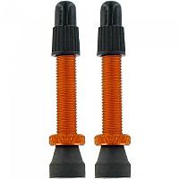 [해외]VAR 2 Alloy Presta Valves 35 mm Orange
