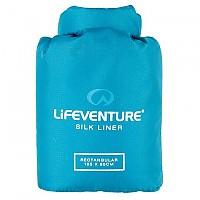 [해외]LIFEVENTURE Silk Sleeping Bag Liner Rectangular Aqua