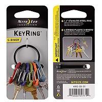 [해외]NITE IZE Key Ring 6 Carbiner Plastic Assoreted