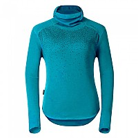 [해외]오들로 Shirt L/S With Facemask Vallee Blanche Warm Algiers Blue / Allover Print