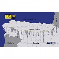 [해외]STT SPORT Crazy Towel Camino De Santiago Map Terry Loop Blue