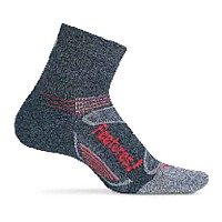 [해외]FEETURES Elite Merino Light Cushion Quarter Charcoal / Red