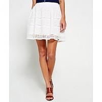 [해외]슈퍼드라이 Geo Lace Mix Skater Skirt Optic White