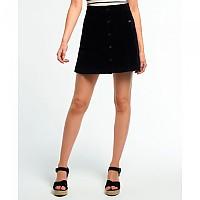[해외]슈퍼드라이 A Line Cord Skirt Black