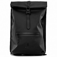 [해외]RAINS Roll Top Rucksack 18L Black