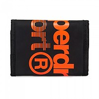 [해외]슈퍼드라이 Sport Stadium Lrg Logo Wallet Black / Fluro Orange