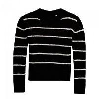[해외]슈퍼드라이 Nordic Stripe Mohair Jumper Black / Cream