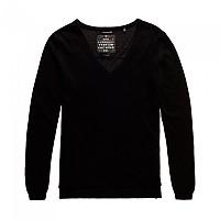 [해외]슈퍼드라이 Luxe Cashmere Vee Neck Knit Black