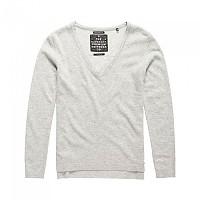 [해외]슈퍼드라이 Luxe Cashmere Vee Neck Knit Grey Marl