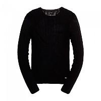 [해외]슈퍼드라이 Luxe Mini Cable Knit Black