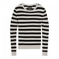 [해외]슈퍼드라이 Luxe Mini Cable Knit Grey Marl / Black