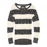 [해외]슈퍼드라이 West Textured Stripe Knit Black / Cream