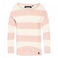 [해외]슈퍼드라이 West Textured Stripe Knit Blush / Cream