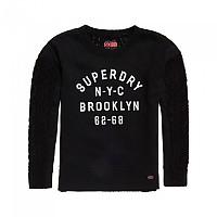 [해외]슈퍼드라이 Fusion-Line Logo Sweater Black