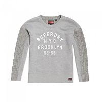[해외]슈퍼드라이 Fusion-Line Logo Sweater Grey Marl