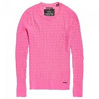 [해외]슈퍼드라이 Luxe Cable Knit Fluro Pink