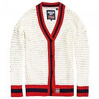 [해외]슈퍼드라이 Varsity Spirit Crochet Cardigan Marshmallow
