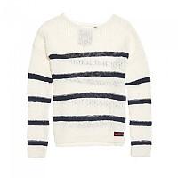 [해외]슈퍼드라이 Atlantic Stripe Rib Knit Liner White Stripe