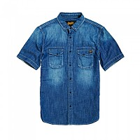 [해외]슈퍼드라이 Biker Slim Shirt S/S Side Winder Vintage
