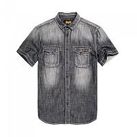 [해외]슈퍼드라이 Biker Slim Shirt S/S Tarmac Vintage