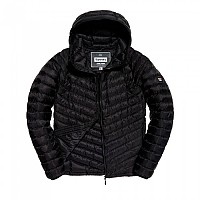 [해외]슈퍼드라이 Micro Quilt Down Hooded Black